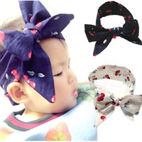 Wholesale Europe Headbands - Children headbands New children hair with Europe and the United States cute baby baby belt tie bow tie with bow
