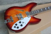 Wholesale 12 String Electric Best - Wholesale-Top quality Orange color 12 strings Ricken 360 Jazz electric Guitar with Best hardware,China Hot selling,Free shipping