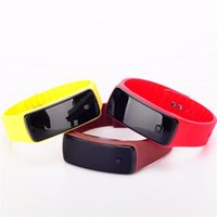 Wholesale Electronic Sports Bracelets - LED electronic watches 2nd generation Bracelet Touch Student sports Bracelet Digital Watch Fashion smart silicone watch free DHL shipping
