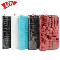 Wholesale Crocodile Money Wallets - Strap Crocodile Wallet Leather Case For Samsung Galaxy S8 Plus J5 Prime J7 On5 On7 2016 J2 Card Pouch Photo Money Stand Snake Cover Luxury