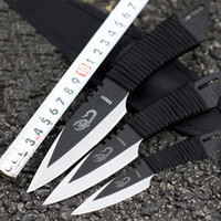 Wholesale Dive Kit - 3Piece Set Diving Knife Magic Scorpion Bowie Knifes Outdoor Small Straight Knife Stainless steel Fixed Blade Full Tang Survival Knives Kit