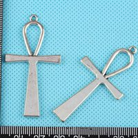 Wholesale Large Cross Charms - Ankh Cross Large Crucifix Charms Pendants Vintage Silver DIY Jewelry Findings Findings DIY Accessories Handmade HOT Z1228