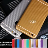 Para el iPhone 5S Pegatinas de Fibra de Carbono Grain Full Body Decals Sticker Cover para iPhone 7 5s 6 6s Plus Bling Película Teléfono plateado