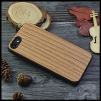 Wholesale Handmade Iphone5 Cases - For iPhone 7 6 7Plus Handmade Real Wood Hard Back PC Case for Apple iPhone5 5S SE Protective Cover Bamboo Oak Wood Cases