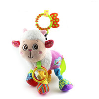 Wholesale lamb toys - Cute Baby Hanging Toy Lamb Animal Teether Rattle Tinkle Hand Bell Multifunctional Plush Stroller Toys Kids Gift WJ316