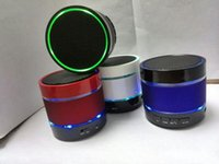 Wholesale Beat Box Bluetooth - New LED bluetooth speakers S09 Enhanced speaker Metal Mini Portable Beat Hi-Fi bluetooth speaker with retail box Free DHL