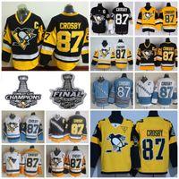 Wholesale Mens 87 - 2017 Stanley Cup Pittsburgh Penguins Jerseys #87 Sidney Crosby Jerseys Stadium Series Throwback CCM Mens Sidney Crosby Hockey Jersey C Patch