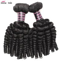 Wholesale Natural Rose Hair - 8A High Quality Rose Curl Fashion Style Hair Weave Hair Extension 10pcs 100% Unprocessed Human Hair 8-28inch Natural Black Color For Women