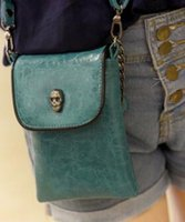 Wholesale Skull Packet Chain Bag - Wholesale- The new mini bag Korean female chain diagonal package zero wallet fashion skull packet
