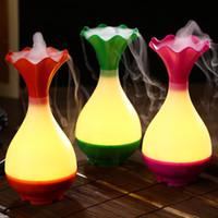 rohs zerstäuber großhandel-USB Luftbefeuchter Ultraschall Aromatherapie Ätherisches Öl Aroma Diffusor mit LED Nachtlicht Nebel Luftreiniger Zerstäuber für Zuhause
