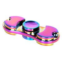 Wholesale Free Pottery - 2017 Perfect Rainbow HandSpinner Fingertips Spiral Fingers colorful Fidget Spinner EDC Hand Spinner Acrylic Aluminum Alloy Gyro Toy DHL free