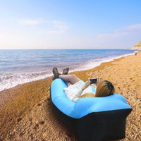Wholesale Inflatable Lounger Air sofa Fast Inflate by Wind or Air Pump Waterproof Air Bag Chair Sofa Perfect for Travelling Camping Hiking Pool