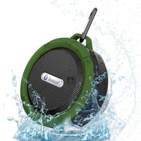 Wholesale bluetooth speaker C6 Portable Wireless Speaker Call Handsfree Waterproof Bluetooth Bathroom Music Player With Retail Package