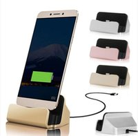 Wholesale Iphone Dock Charger Charging Cradle - LG G6 Quick Charger Docking Stand Station Cradle Charging Sync Dock For i6 i7 Plus TYPE C Samsung S7 edge J3 2017 With Retail Box