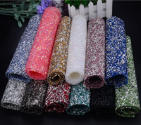 Wholesale Hot Fix Crystal Shapes - promotion!bling bridal bouquet rhinestone banding,1 sheet lot,24*40cm,ab color with silver,hot fix crystal trimming applique