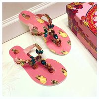 Wholesale Popular Slippers - fashion women popular flower print rhinestone slipper, size 35-40, 2017 popular colourful women flats top quality slipper free shipping
