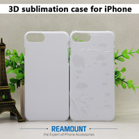 Wholesale 3d Sublimation Phone Cases Blanks - Wholesale Blank 3D Sublimation PC Cases for iPhone 8 8 Plus Phone Case for iPhone X Full Area Printed Phone Cover Case