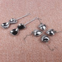 Wholesale Stainless Steel Heart Shaped Spoons - Heart Shaped Herbal Tea Balls Infuser Filter Spoon Strainer Stainless Steel Hollow Out Scoop Sturdy Reusable Filters High Quality 1 3jy AR