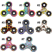Wholesale New Arrival Emoji Fidget Spinner Toy Finger Spinner Toy Hand Tri Spinner HandSpinner EDC Toy Styles for Choosen DHL Free