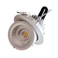 20w 30w 40w Lâmpada embutida Gimbal LED 155 175mm Corte do furo Tronco Down Light CE ROHS LED Rotational Spotlight do fornecedor chinês