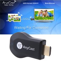 Wholesale Android Tvs - New Anycast M2 Plus DLNA Airplay WiFi Display Miracast Dongle HDMI Multidisplay 1080P Receiver AirMirror Mini Android TV Stick Better ezCast