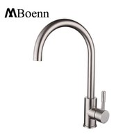 Wholesale Kitchen Faucet Ceramic Valve - SUS304 Stainless Steel Kitchen Sink Faucets Brushed Mixer Water Tap Hot Cold Mixing Valve Faucet Leadless