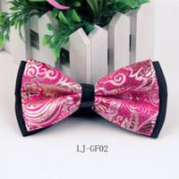 ingrosso cravatte cinesi-Nuovo papillon stile cinese jacquard in seta poliestere da uomo banchetto da cerimonia per feste 25color 1-9