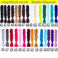 Wholesale Synthetic Braiding Hair Wholesale - Wholesale Price Ombre Synthetic Kanekalon Braiding Hair For Crochet Braids False Hair Extensions Ombre Jumbo Braiding