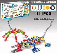 pequeños camiones de juguete al por mayor-Stick Building Block Sets Small Truck Crocodile Helicóptero Dinosaur Disentanglement Block Puzzle Niños Preescolar Juguetes Educativos Para Niños