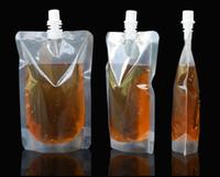 saft steht großhandel-250 ml Stand-up-Kunststoff-Getränkeverpackungsbeutel Ausgusstasche für Saftmilchkaffee Getränkeflüssigkeit Verpackungsbeutel Getränkebeutel KKA3094