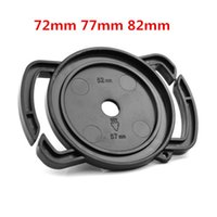 Wholesale 72mm cap - Wholesale-Camera Lens Cap keeper 72mm 77mm 82mm Universal Lens Cap Camera Buckle Lens Cap Holder Keeper Free shipping