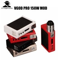 Wholesale Electronic Cigarette Evic Mod - 100% Original VGOD PRO 150W TC Box Mod Powered By Dual 18650 Battery Electronic Cigarettes Box Mod VS Joyetech EVIC PRIMO 200W