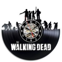 decoraciones de vinilos al por mayor-The Walking Dead Art Reloj de pared de vinilo Reloj de regalo Moderno hogar Registro Decoración de la vendimia