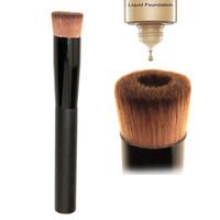 Wholesale Minerals Kit - 1 pc 2017 Professional Bare Mineral Liquid Foundation Brush Makeup Brushes Care Soft Wooden Brush Pincel Maquiagem