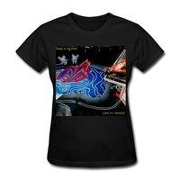 ingrosso regolare t-shirt donna-Magliette Casual Brand Abbigliamento Cotone Regular Panic At The Disco Death of A Bachelor Women Short O-Neck Tee Shirt