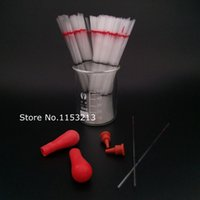 Wholesale Micro Capillary - Wholesale- 2000pcs  lot Lab disposable micro-capillary pipette capillary blood collection 40ul, get 10 pieces plastic suction separate head