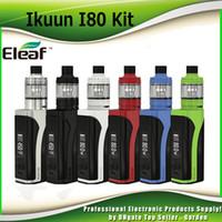 Wholesale Bod Black - Original Eleaf iKuun i80 Starter Kits with Melo 4 Tank Atomizer 4.5ml 3000mAh 80W TC Bod Mod with EC2 Coil kit 100% Authentic 2205114