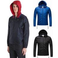 Wholesale Nylon Guy - Male Jacquard Printed Nylon Anti Water Windbreaker Guy Short Style Zip Pockets Jacket Hot Sale Design