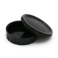 Wholesale Cy C - Wholesale- Value Set C-Y Body Cap + Rear Lens Cap for Contax Yashica C Y CY C-Y Mount DSLR free shipping Black