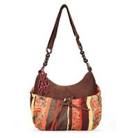 Wholesale Strap Bags For Men - Boho Leather Ethnic Bag Bolsos Etnico Cross Body Long Strap Suede Bohemian Bag Ethnic Art Shoulder Bag For Women Etnische Tassen