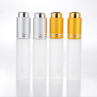 Wholesale Wholesale Empty Cosmetic Bottles - 20 ML Mini Portable Frosted Glass Refillable Perfume Bottle Empty Cosmetic Parfum Vial With Dropper free shipping F2017348