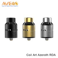 Wholesale coil art azeroth - CoilArt Coil Art Azeroth RDA mm with Adjustable Airflow with Delrin Drip Tip VS MAGE RDA
