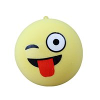 Wholesale Toys Characters - Auwer 7CM Cute Emoji bread Scented Slow Rising Squishy Stretch Jumbo Squishies Kawaii Relieve Stress Vent Fun Toy Kids Gift
