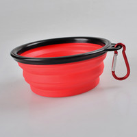 outdoor dog bowls - Dog Bowl Dog Cat Pet Travel Bowl Silicone Collapsible Feeding Water Dish Feeder portable water bowl for pet