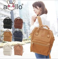 Wholesale Backpack Faux Leather - Japan Anello bag Unisex PU Faux LEATHER LARGE Backpack Rucksack School Bag Backpack Travel Rucksack School Bag Bookbags 5 color KKA2062