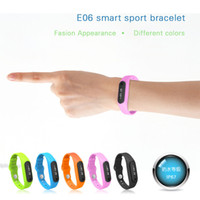 Wholesale Pics Bracelets - Wholesale 1 pics Smart Wristbands Bracelet Waterproof E06 Touch Charge Bluetooth for Sleeping Travelling fitness tracker xiao mi band
