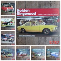 Wholesale painted paradise - Ford Paradise VW Holden Car Vintage Craft Tin Sign Retro Metal Painting Poster Bar Pub Signs Wall Art Sticker