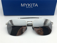Wholesale Sunglasses Ultralight - New mykita ELON sunglasses for man pilot frame with mirror ultralight frame Memory Alloy oversized sunglasses for women cool outdoor design