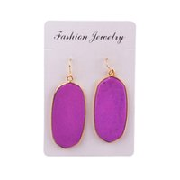 Wholesale Malachite Gold Earrings - Black Onyx Amethyst Rose Quartz Dangle Earrings Malachite Natural Stone Rhodonite Faceted Hook Dangle Earrings 1Pair