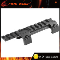 Wholesale aluminium base - FIRE WOLF Hunting Gear Aluminium Airsoft MP5 G3 20mm Scope Mount Rail Picatinny Base MP5 Dovetail guide rail bracket